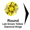 Titanium Rings, yellow diamond engagement ring, lab grown diamond