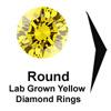 Titanium Rings, yellow diamond engagement ring, lab grown diamond