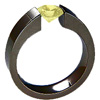 BLACK EXCENTRIS, yellow diamond engagement ring, lab grown diamonds