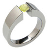 EXCENTRIS TAPERED, Titanium yellow diamond solitaire Ring