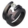 Black Titanium Ring Set - Spira Duo