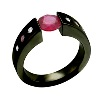 Black Zirconium Ring - Black Exentris