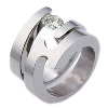 Titanium wedding band and engagemnt ring