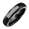 Black Titanium Ring - 5-CHANNEL BLACK BAND - AbsoluteTitanium.com
