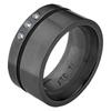 Black Titanium Ring - DIAMOND BLACK SABLE Ring - AbsoluteTitanium.com