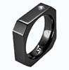 DIAMOND BLACK OCTO RING - AbsoluteTitanium.com