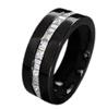 Black Titanium Ring - ETERNITY COMBINATION BLACK BAND - AbsoluteTitanium.com
