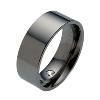The Flat Classic Black Titanium Wedding Ring; Comfort fit - AbsoluteTitanium.com
