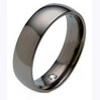 Black Titanium Wedding Ring with a Hidden Diamond - AbsoluteTitanium.com
