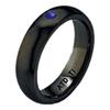 Black Titanium Ring - HALF ROUND SAPPHIRE BLACK BAND - AbsoluteTitanium.com
