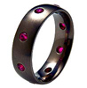 RUBY BLACK ORIEL RING - AbsoluteTitanium.com