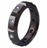 Black Titanium Ring - DIAMOND SET BLACK QUANTUM RING - AbsoluteTitanium.com