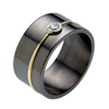 Black Zirconium Ring - Capri