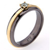 Black Titanium Ring - Classic Prong Setting