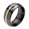Black Zirconium Ring - Oro