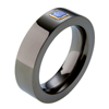 Black Titanium Ring - Square Setting