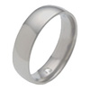 Wedding Titanium Ring - HALF-ROUND-HIDDEN-GEM
