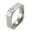 Titanium Ring - Octo with Diamonds
