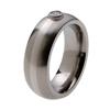Titanium Ring - Diamond and Platinum Inlay and Bezel