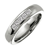 Titanium Ring - 5 Channel Diamond Band