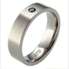 Titanium Ring - Flat Band with Black Diamond