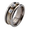 Titanium Ring - Gala with Diamonds