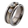 Titanium Ring - Gala with Diamonds