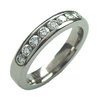 Titanium Ring - Half Eternity Band