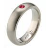Titanium Ring - Half Round Ruby Band