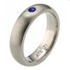 Titanium Ring - Half round Sapphire Band