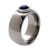 Titanium Ring - Moonstone with Platinum Bezel