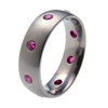 Titanium Ring - Oriel with Rubies