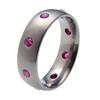Titanium Ring - Oriel with Rubies