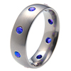Titanium Ring - Oriel with Ceylons