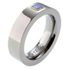 Titanium Ring - Square Setting