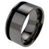 Titanium Ring - Glazed Offset Inlay