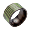 Black Zirconium Ring - Glazed Safari
