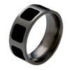 Titanium Ring - Glazed Inlaid Squares