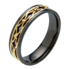 Black Zirconium Ring - Celtic