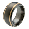 Titanium Ring - Duet Flush Inlay