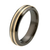 Titanium Ring - Duet Raised Inlay