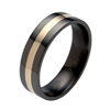 Titanium Ring - Flat Flush Inlay