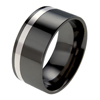 Titanium Ring - Flat Offset Inlay