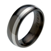 Titanium Ring - Offset Inlay