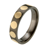 Titanium Ring - Inlaid Circles