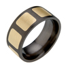 Black Titanium Ring - Recessed Duet Inlay