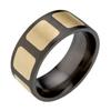 Black Titanium Ring - Recessed Duet Inlay