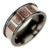 Titanium Ring - Mokumegane Ripple