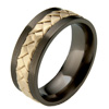 Black Titanium Ring - Naples