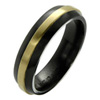 Titanium Ring - Half Round Raised Inlay